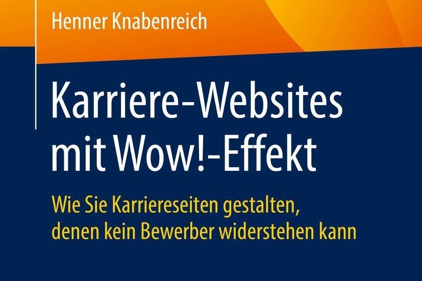 """Ausschnitt Buch-Cover """"Karriere-Websites mit Wow!-Effekt"""""""